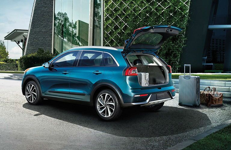 rear hatch of 2019 kia niro open