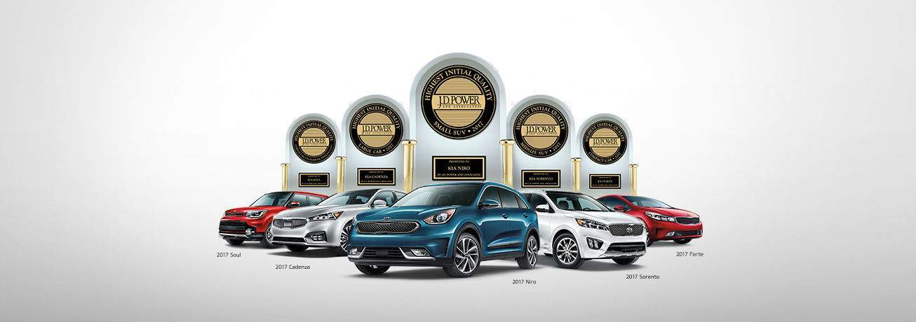 Top-ranked Kia models in their vehicle segment J.D. Power 2017 IQS