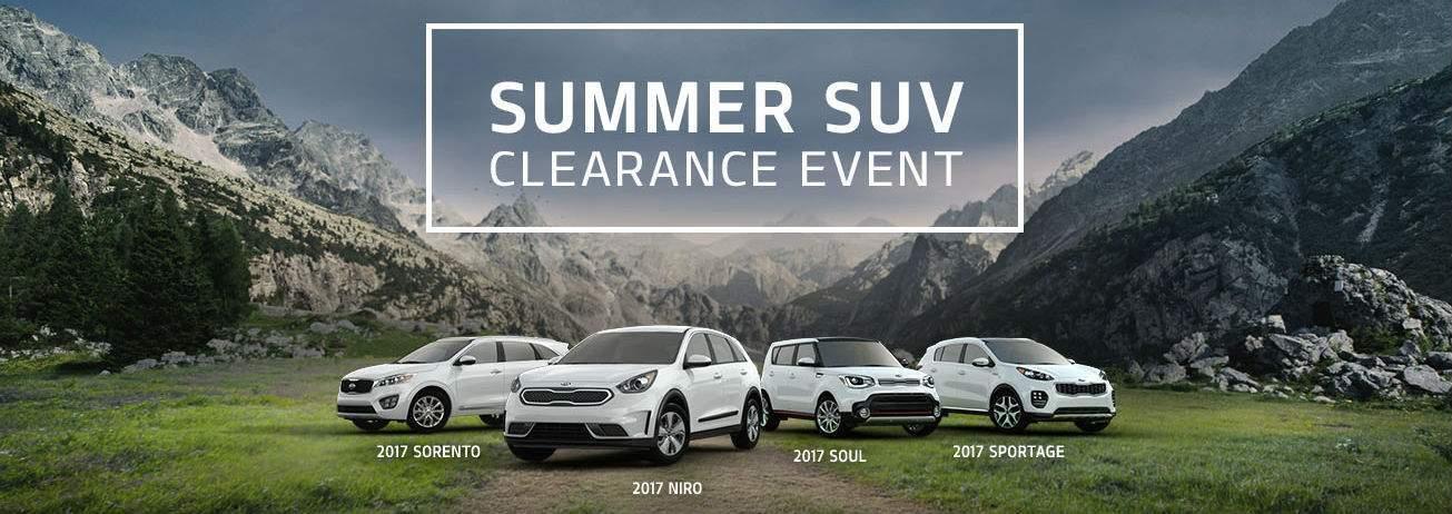 Kia Summer SUV Clearance event Racine WI