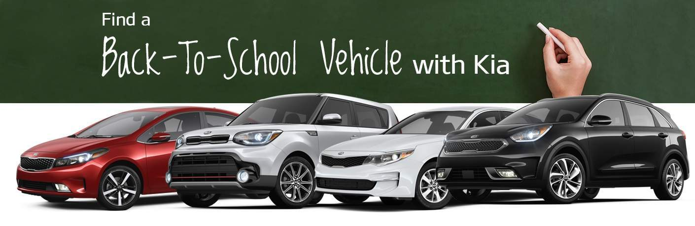 Back-to-school Kia models 2018 Kia Optima Sportage Soul 2017 Niro Forte