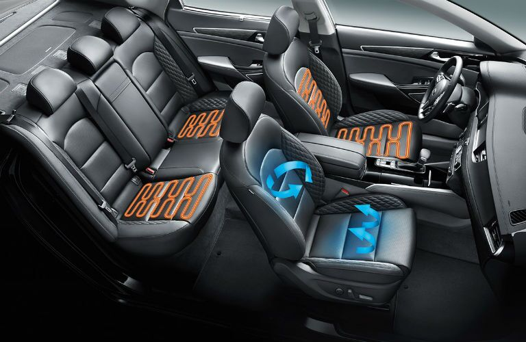 heated and cooled seats shown in 2018 kia cadenza