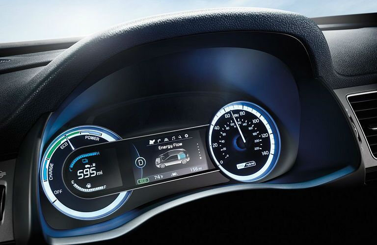 instrument cluster in 2019 kia niro