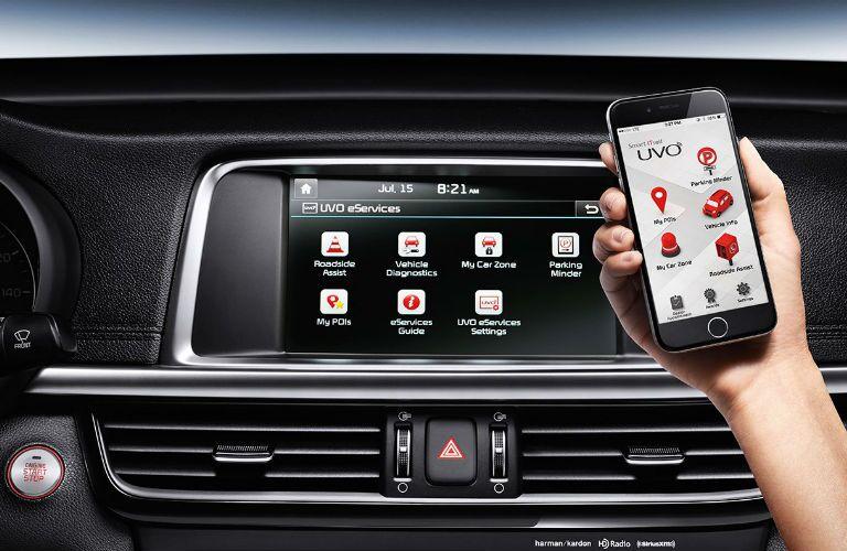 2016 Kia Optima smart phone connect Frank Boucher Kia Racine, WI