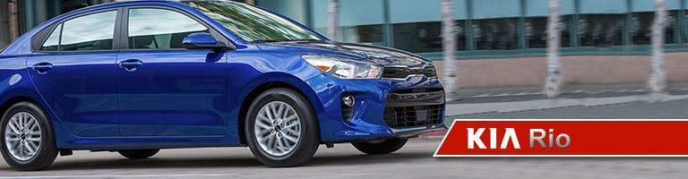 2018 Kia Rio blue side view