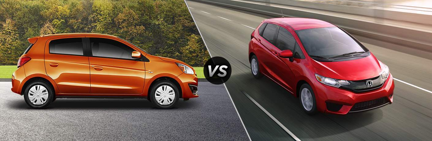 2017 Mitsubishi Mirage vs 2017 Honda Fit