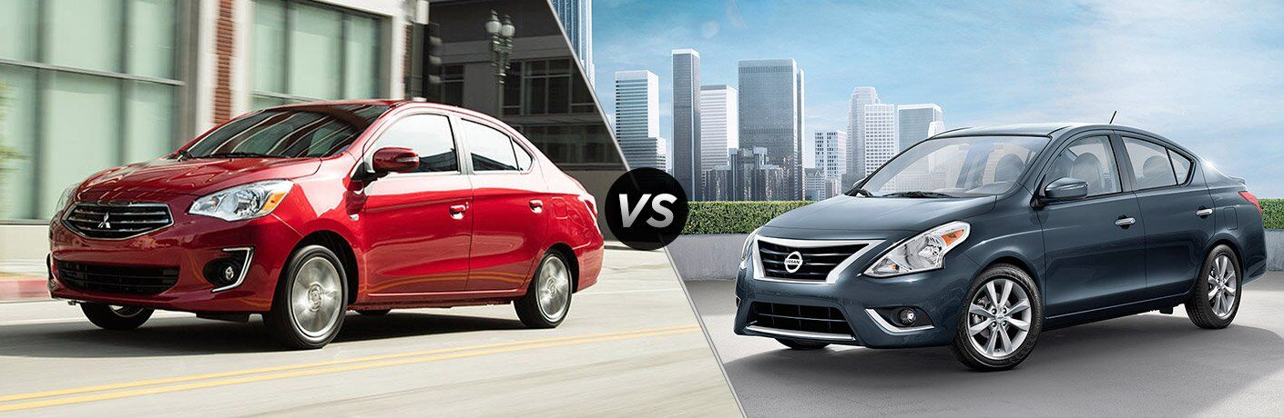 2017 Mitsubishi Mirage G4 vs 2017 Nissan Versa