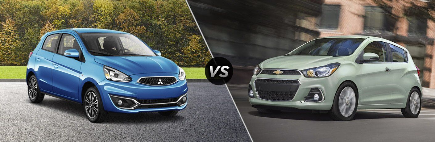 2017 Mitsubishi Mirage vs 2017 Chevy Spark