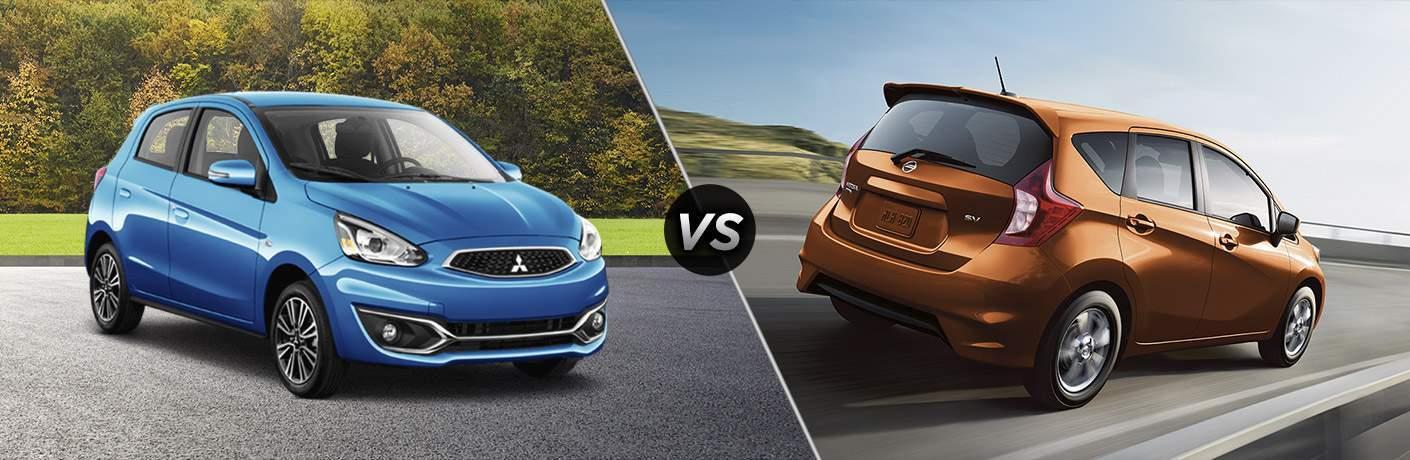 2017 Mitsubishi Mirage vs 2017 Nissan Versa Note