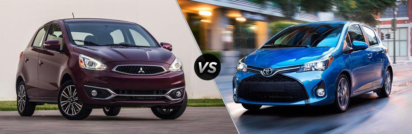 2017 Mitsubishi Mirage vs 2017 Toyota Yaris
