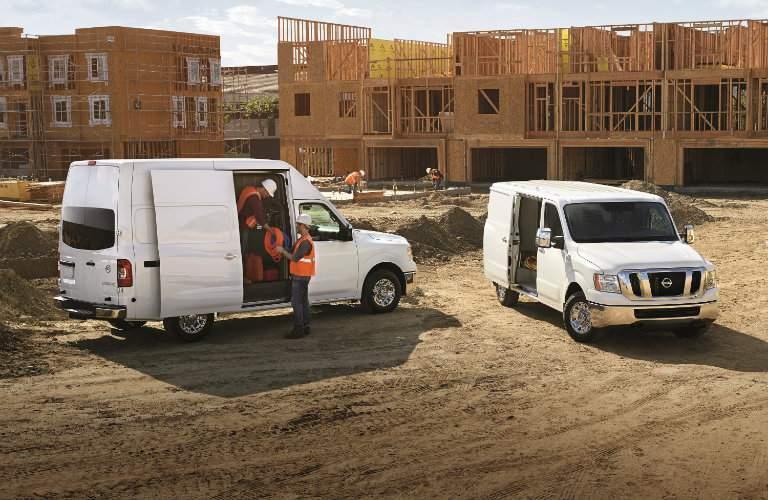 2017 Nissan NV Cargo Van at a construction site