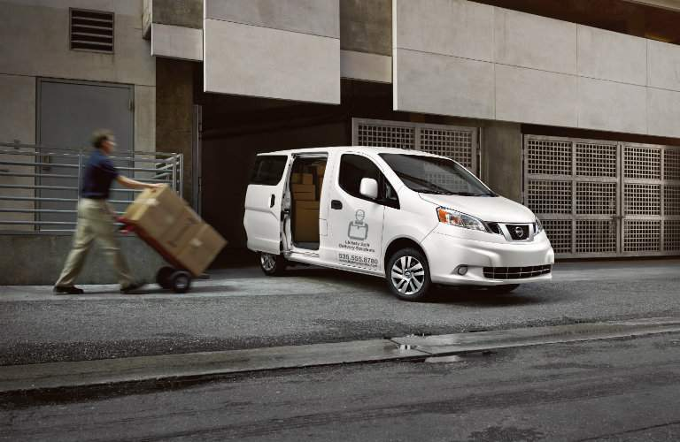 2017 Nissan NV200 Cargo Van with boxes in back
