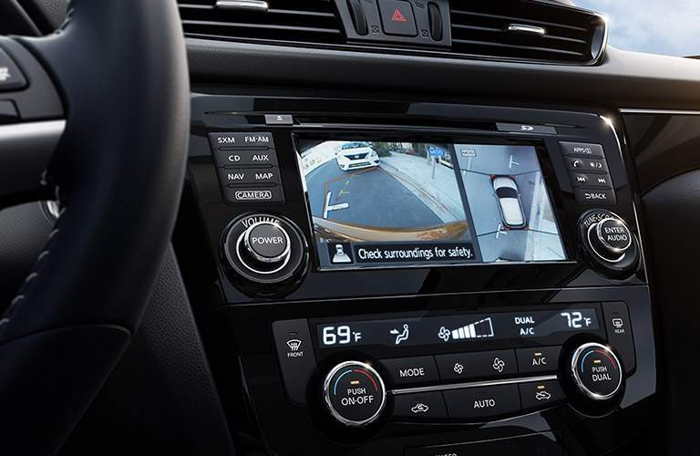 Rearview camera on the 2018 Nissan Rogue