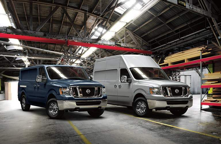 2017 Nissan NV3500 standard and high roof options side by side