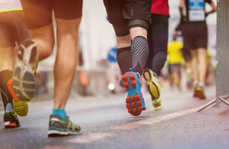Image of runners' legs