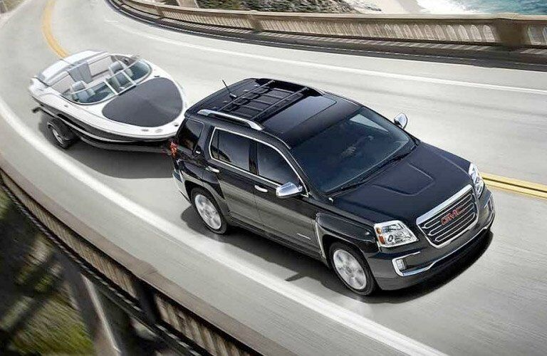 2017 GMC Terrain towing a small boat