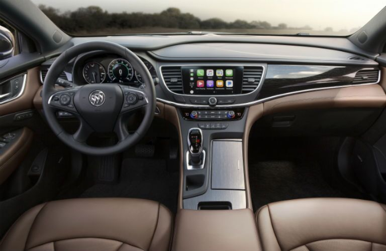2019 Buick LaCrosse interior steering wheel and dashboard