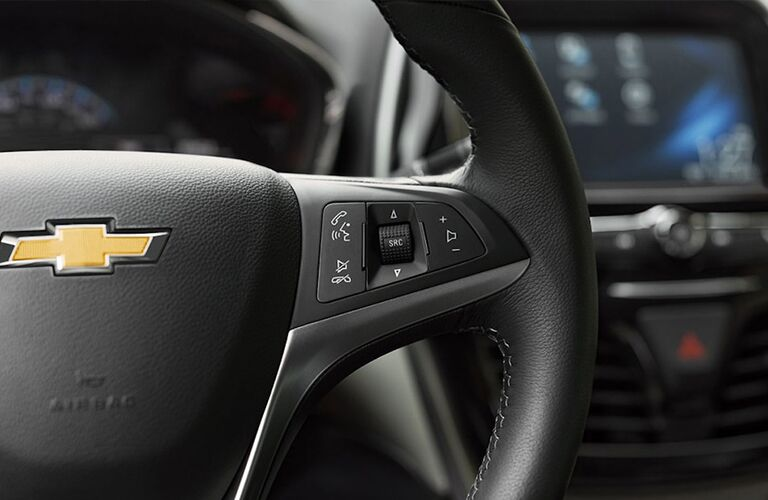 2019 Chevy Spark interior close up of steering wheel