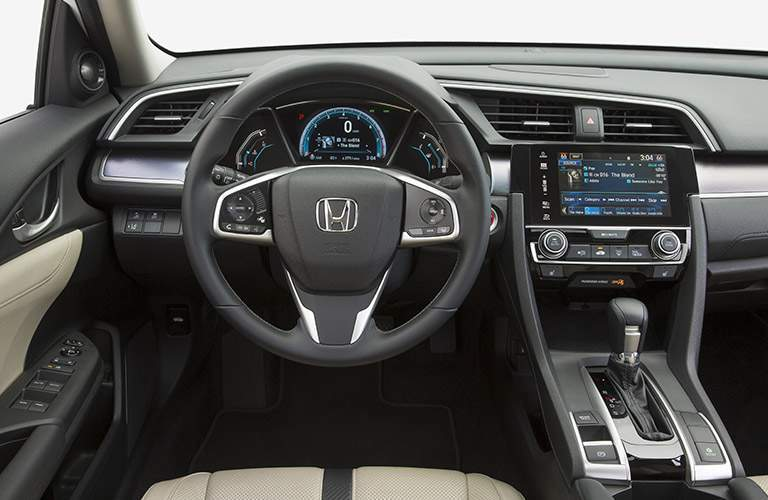 View of dashboard of 2017 Honda Civic sedan