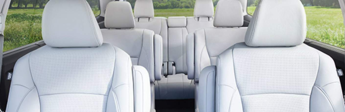 Three Rows of Seats Inside the 2018 Honda Pilot