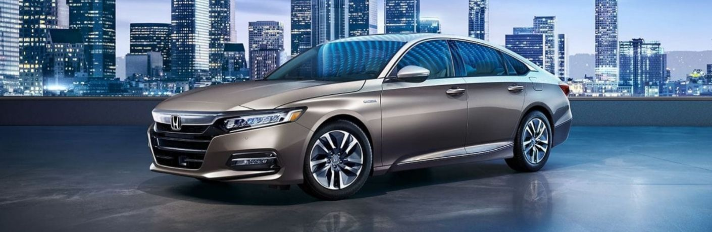 Exterior view of a silver 2019 Honda Accord Hybrid