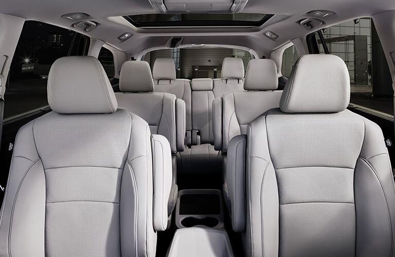 Interior view of the entire interior inside a 2019 Honda Pilot