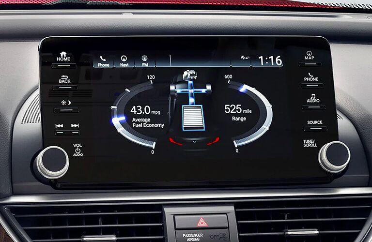 2020 Honda Accord interior close up of infotainment screen