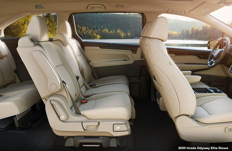 2020 Honda Odyssey Elite interior view from side without doors or beams
