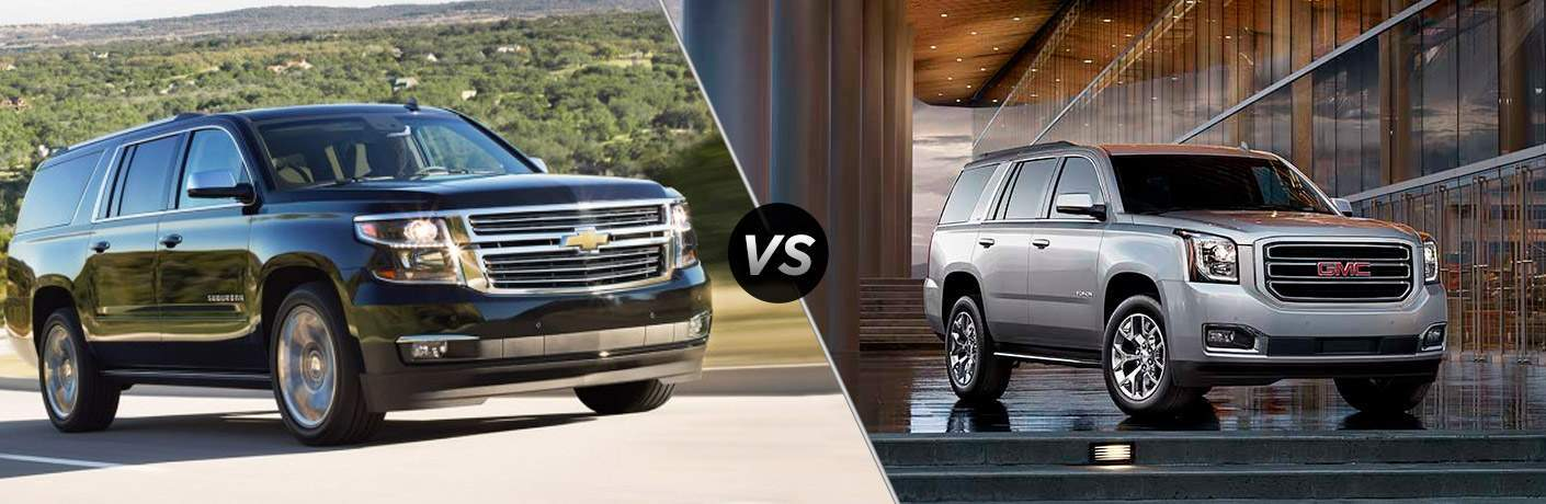 Chevy Tahoe Vs Gmc Yukon >> 2017 Chevy Suburban Vs 2017 Gmc Yukon