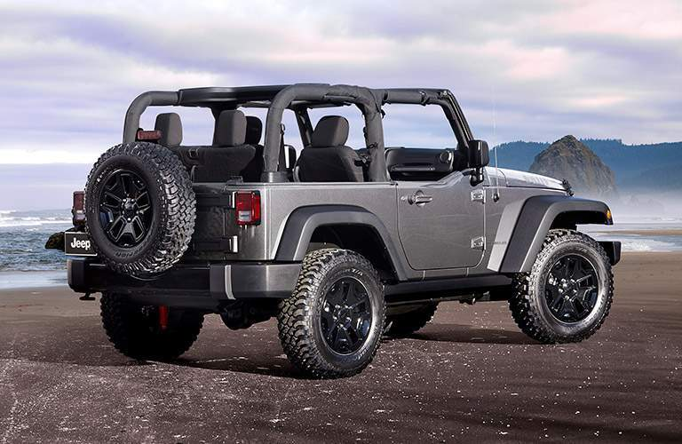 2017 Jeep Wrangler by the ocean