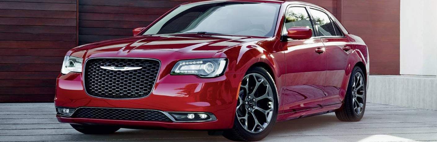 2018 Chrysler 300 red side view
