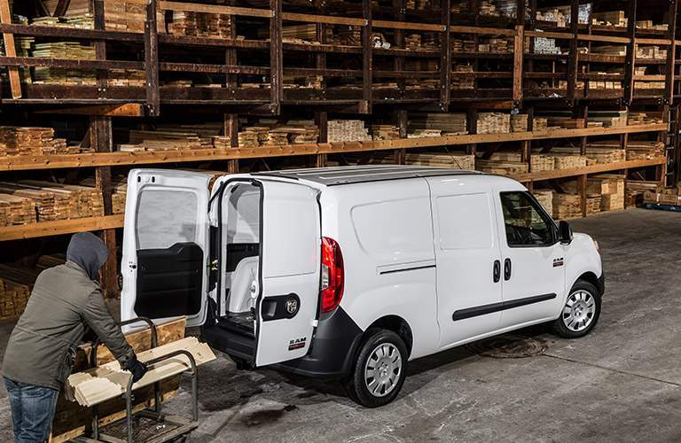 2018 Ram ProMaster City cargo white back view doors open