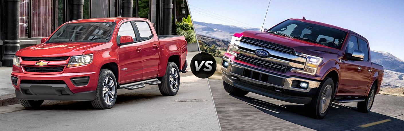 2019 colorado compared to 2018 F-150