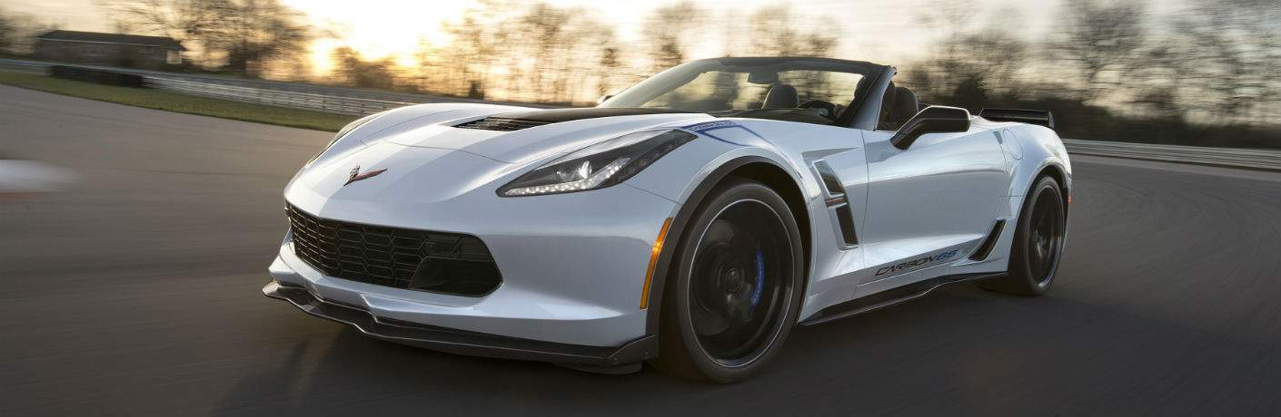 2018 Chevy Corvette convertible white front side view