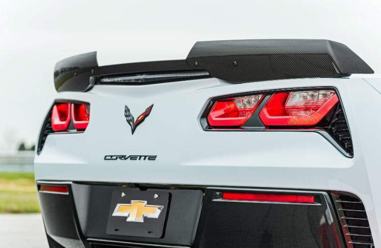 2018 Chevy Corvette rear spoiler