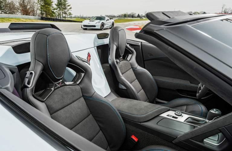2018 Chevy Corvette convertible interior view