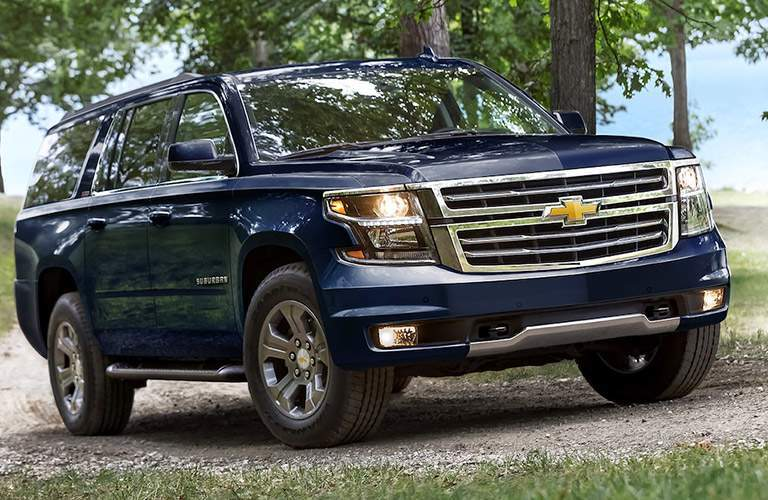 2018 chevy suburban in blue
