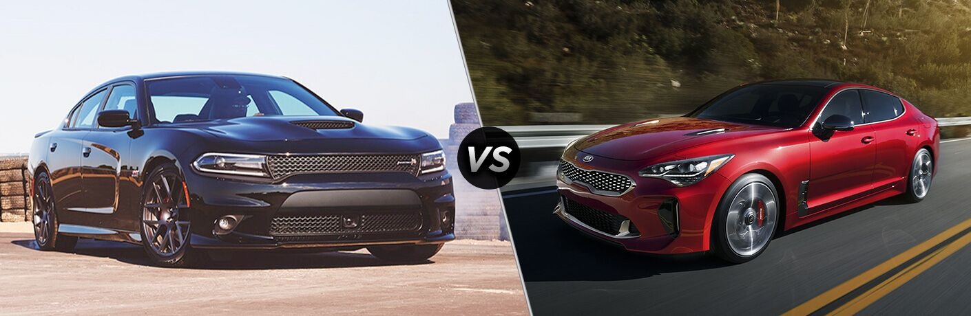 2018 charger compared to 2018 kia stinger