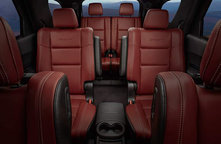 2018 Dodge Durango three rows of red leather seats