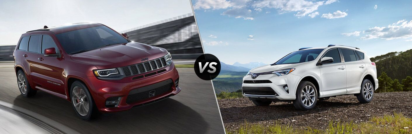 2018 grand cherokee compared to 2018 toyota rav4