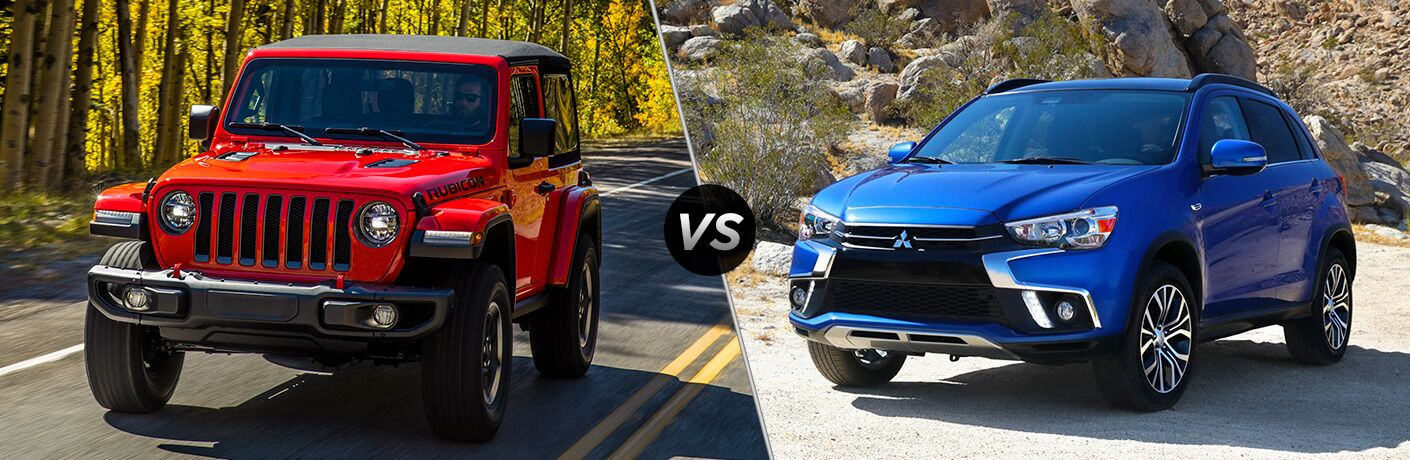 2018 Jeep Wrangler compared to 2018 Mitsubishi Outlander Sport