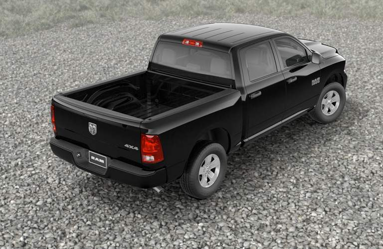 Overhead view of bed of black RAM 15000