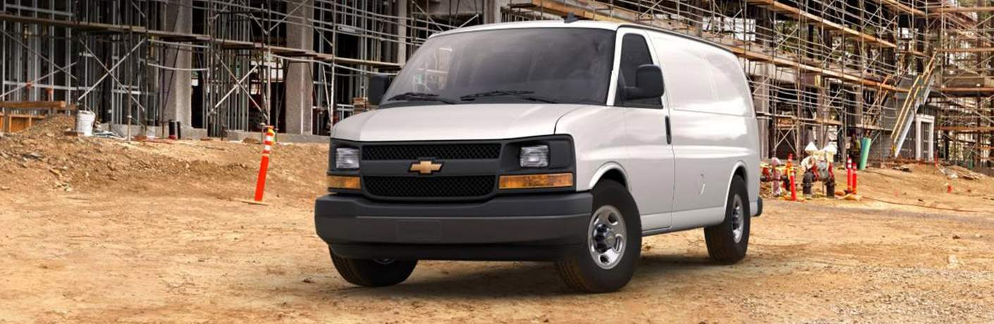2018 Chevy Express white side front view