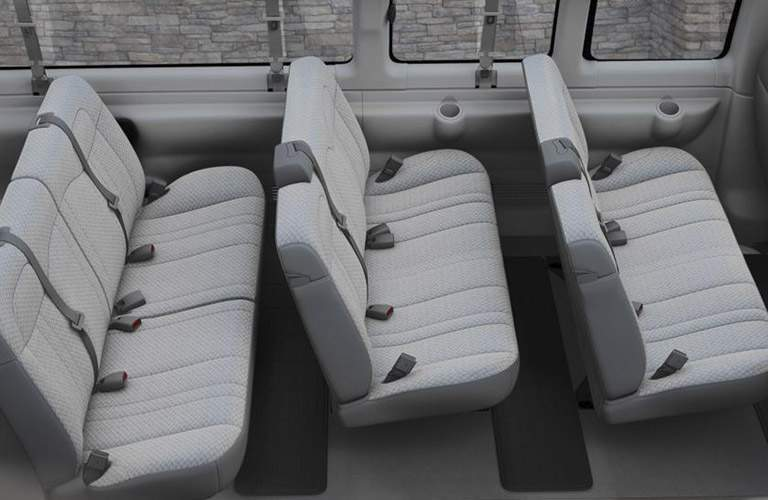 2018 Chevy Express interior back seats