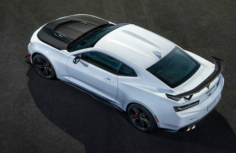 2018 Chevy Camaro in white