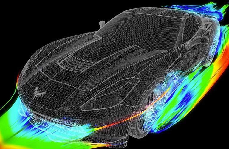 2018 Chevy Corvette Stingray aerodynamics