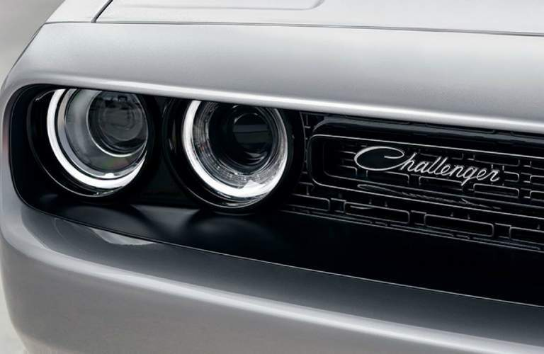 2018 Dodge Challenger headlight design and Challenger badging