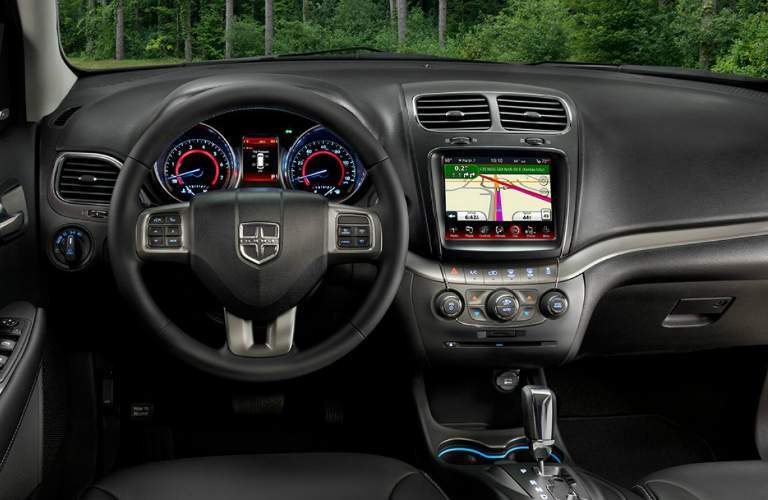 2018 Dodge Journey dashboard display layout with touchscreen