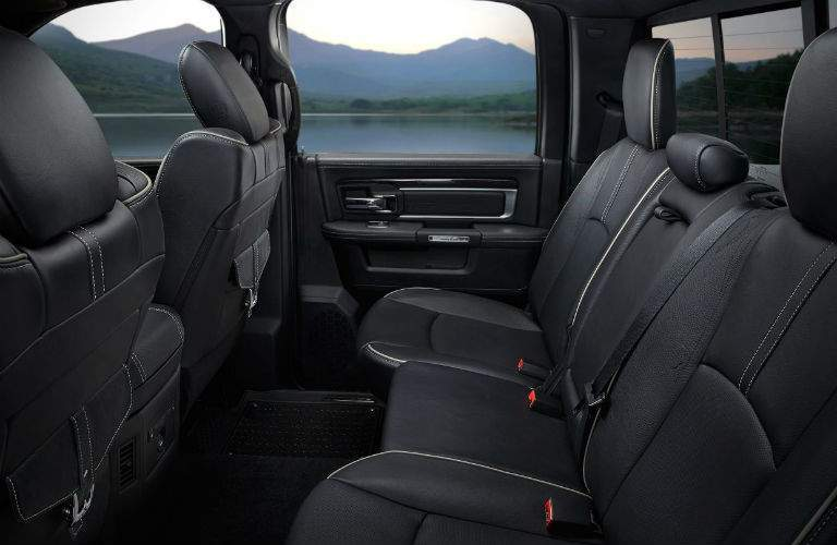 Rear seats inside black 2018 RAM 1500