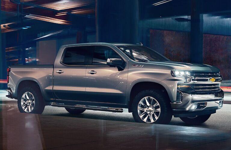 grey 2019 silverado parked
