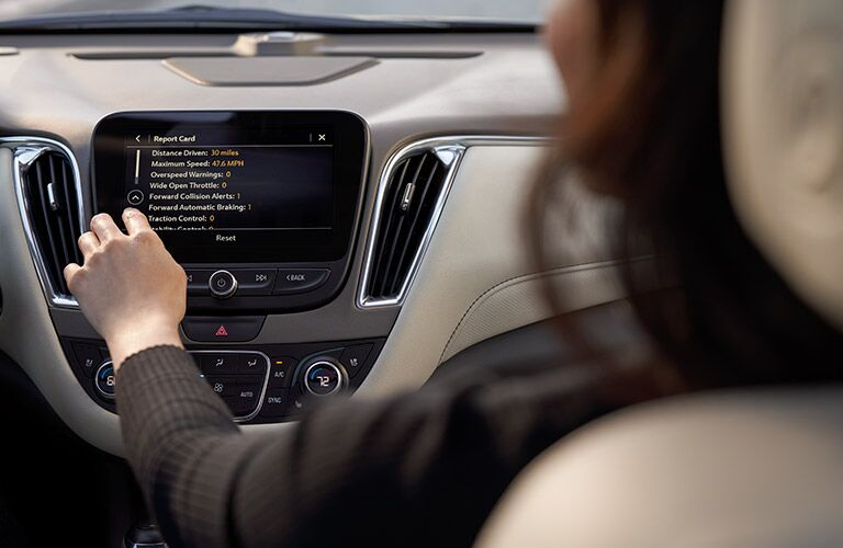 display screen of 2019 malibu